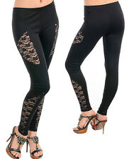 SeXY WoMeNS SHeeR MeSH FLoRaL NeT LaCe RoCKaBiLLY GoTHiC Pants LeGGiNG