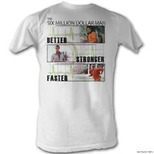 Licensed The Six Million Dollar Man Better Stronger Faster Adult Shirt S-2XL