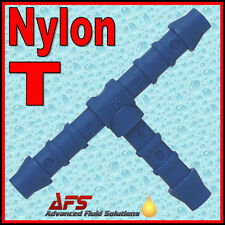 NYLON Barbed Tee Hose Connector Pipe Joiner Tube Fitting Air Fuel Water Petrol T