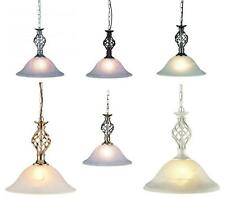 Classic Barley Twist Ceiling Light Pendant Lamp Fitting Murano Glass Shade