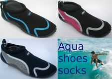 Kids Surf Shoes Beach Sea Aqua Wetsuit Socks Swim Water Size 13,1,2,3,4,5 New