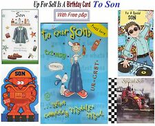 Son Birthday Card To For Buyer Pick From Big Or Small Cute Classic ~ UK Free P&P