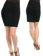 SeXY WoMeNS ViNTaGe sty RoCKaBiLLY BaNDaGe BLoCK HiGH WaiST FiTTeD PeNCiL SKiRT