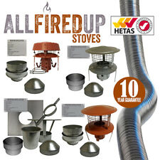"Flexible Flue Liner Installation Kits For Wood Burning Stoves 5"" 125mm + 6""150mm"