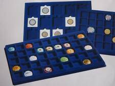 Lighthouse Blue felt coin display trays storage assorted sizes