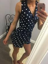 George Playsuit in Navy Polka Dot - Many sizes - RECOMMENDED!!!