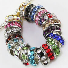 WHOLESALE CRYSTAL SPACER FINDINGS 5MM HOLE CHARM BEADS FINDINGS FIT BRACELETS