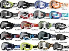 100% Accuri Goggles Motocross MX Off-Road Multiple Colors Black Yellow Blue Red