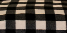 60 Inch Width Black Gingham Polar Fleece, Material,Fabric,Soft And Washable