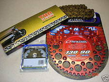THC Chain And Red Renthal Sprocket Kit CR CRF 125/250/450/500 R X 88-13