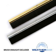 """Weatherbar Ally Brush Draught/Draft Excluder, 33/36"""" Lengths & Various Finishes"""
