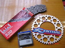 RK Chain And Silver Renthal Sprocket Kit CR CRF 125/250/450/500 R X 88-13 Enduro