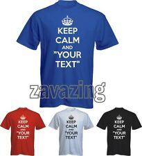 KEEP CALM AND CUSTOMISED YOUR TEXT MAN T-SHIRT ANY TEXT YOU WANT CUSTOM GIFT