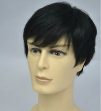 Men 's short full wig wigs hairpiece toupee,100% real natural human hair -L04-00