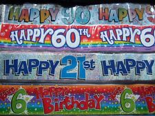 BIRTHDAY BANNER ~ CHOICE OF AGE AND DESIGN ~ age 30 and over ~ L@@K