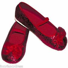 RED DOROTHY GLITTER SHOES RUBY SLIPPERS WIZARD  of  OZ ALL SIZES