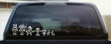Stick People Decal Sticker For Your Car Window  Stick Family
