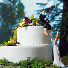 """Hooked On Love"" Groom Wedding Cake Topper Figurine"