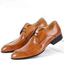 US 6-11 New Genuine Leather lace up oxford formal Dress Shoes Mens boots Shoes