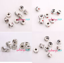 Free PP Mixed Lots Sunflower Rhinestone Stopper Beads Fit Charms Bracelets 9mm