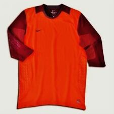 Mens Sz XL NIKE Confidence 3/4 Sleeve Orange Soccer GK Goalkeeper Shirt Jersey