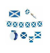SCOTLAND (Scottish) FLAGS/BANNERS & BALLOONS(Party Decorations){fixed £1 UK p&p}