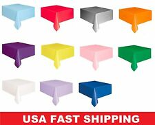 """Solid Color Party Supply Table Cloth Plastic Table Cover 54"""" x 108"""""""