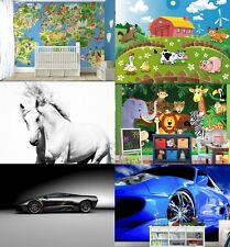Wall Murals for KIDS ROOM Animals Cars Pirates and Farm WALLPAPERS for children