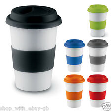 CERAMIC TAKE AWAY TRAVEL MUG - COFFEE / TEA - SILICONE LID - INSULATED / THERMAL