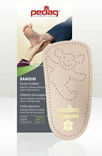 Kids Arch Support Insoles Pedag Orthotic Bambini Leather Footbed Childrens 3/4