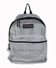 "New 17"" Transparent /See Through/Mesh Backpack/Book Bag Light Weight (11 colors)"