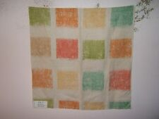 Lee Jofa Groundworks fabric remnant for crafts geometric Batik Squares mult clrs