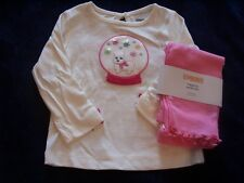 NWT Girl's Gymboree Cheery All The Way dog shirt leggings ~ 6-12 months 3 3T
