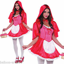 Ladies Sexy Little Miss Red Riding Hood Fairytale Fancy Dress Hen Party Costume