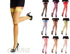 NEW STOCKINGS VARIOUS COLOURS SEXY LADIES LACE HOLD UPS 20 DEN WOMENS PANTYHOSE
