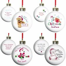 PERSONALISED BABY'S MY FIRST 1ST CHRISTMAS TREE BAUBLES UNIQUE PRESENT GIFT IDEA