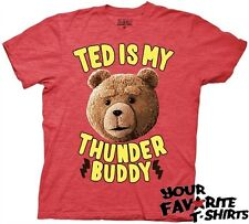 Ted The Movie Ted Is my Thunder Buddy Licensed Adult Fitted T Shirt S-2XL