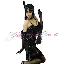 Sexy 1920s 30s Flapper Charleston Fancy Dress Costume Size 8 10 12 14 16 Outfit