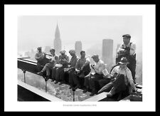 Rockefeller Centre Construction Workers Lunch Break Photo