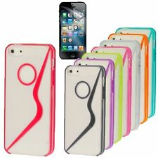 Stylish S-Line Flexible TPU PC Crystal Case Cover For New Apple iPhone 5, 5G +SP