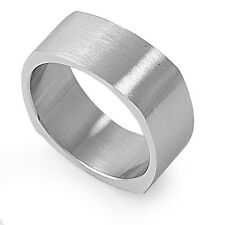 Stainless Steel 9MM Wedding Band Ring Available in Sizes 6 7 8 9 10 11 12 13 14