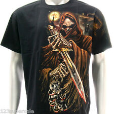 sc9 M L XL XXL Survivor Chang T-shirt Tattoo Glow in Dark STUD Skull Dead Demon