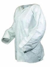 90NEW DUPONT TYVEK ISOCLEAN NONSTERILE WHITE FROCK Labcoats Lab Jackets Lab Wear