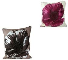 """New 1x Contemporary Poppy Style Embroidered Faux Silk Cushion Cover 18""""x18"""""""