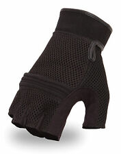 First Classics Mesh Back Gel Palm Fingerless Motorcycle Glove - Summer