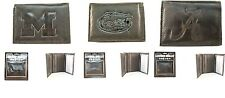 Brand New NCAA Team Black Tri-Fold Leather Wallet / Assorted Teams