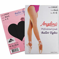 NEW TAN/PINK/BLACK Professional-Grade Ballet Dance Tights Size 4-14 Girls/Teens