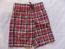 NWT Boy's Gymboree Rescue Team red brown elastic shorts ~ 3 5