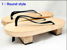 Japanese 2 Kind Geta wooden shoes Bleach Anime Cosplay Geta Sandals Clogs Shoes
