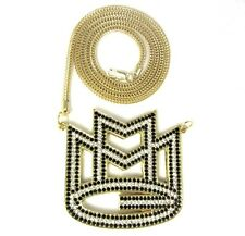 """ICED OUT MAYBACH MMG PENDANT w/ 30"""" & 36"""" NECKLACE RICK ROSS CHAIN  HIP HOP CZ"""